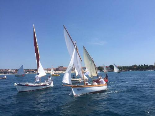 Fažana regatta of traditional boats