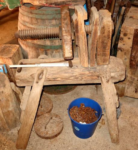 Wooden vice (used by oar builder)